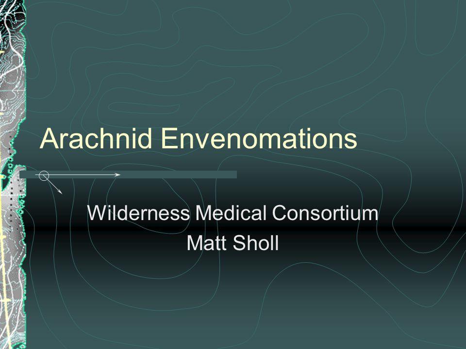Arachnid Envenomations Wilderness Medical Consortium Matt Sholl