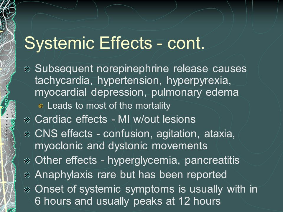 Systemic Effects - cont.