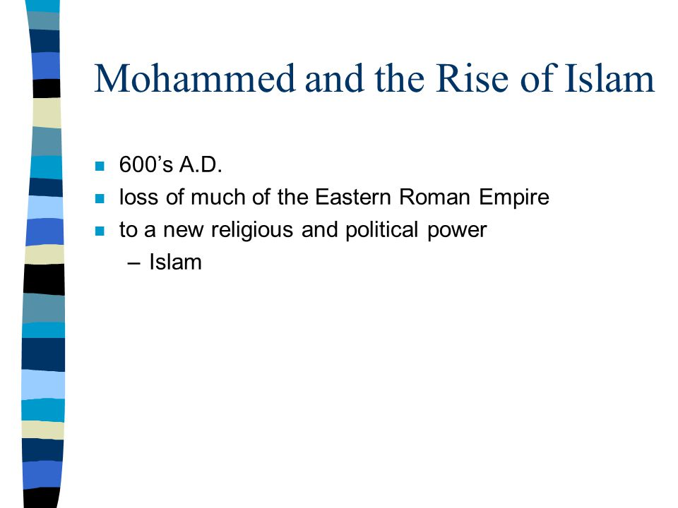Mohammed and the Rise of Islam n 600's A.D.