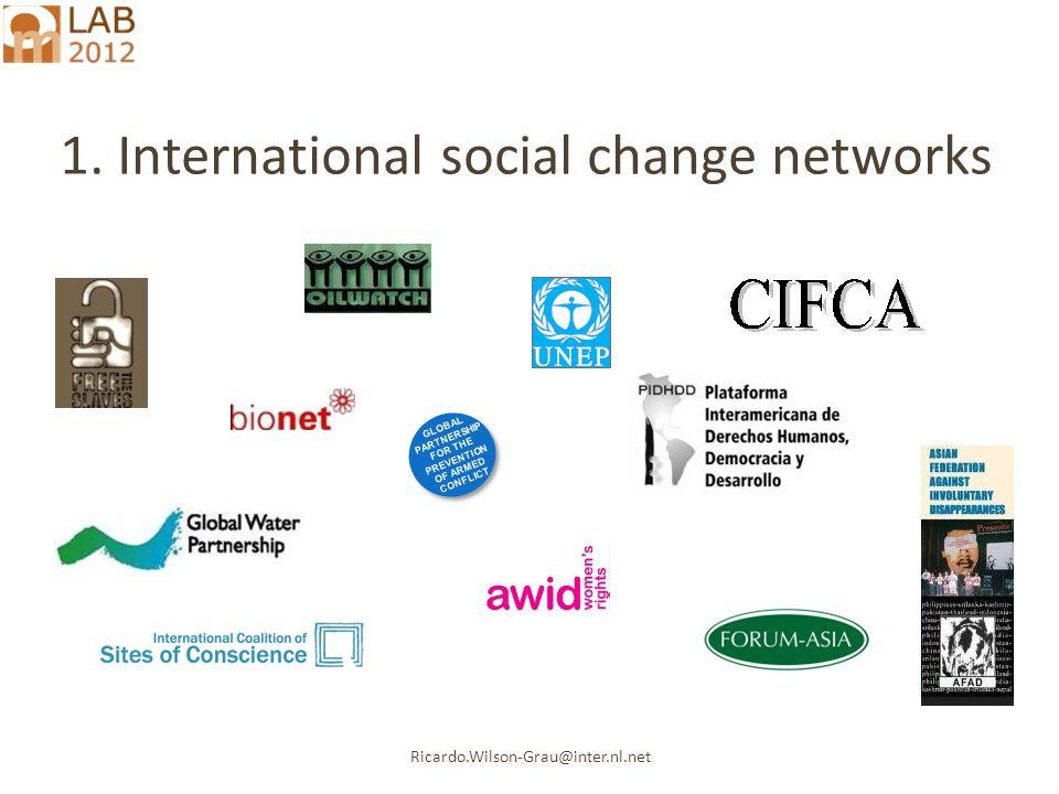 Ricardo.Wilson-Grau@inter.nl.net 1. International social change networks