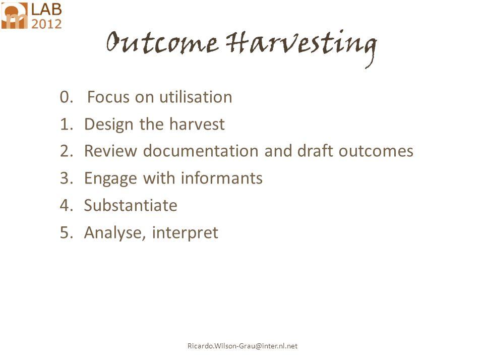 Ricardo.Wilson-Grau@inter.nl.net Outcome Harvesting 0.