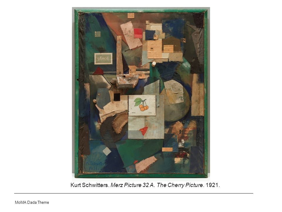 Kurt Schwitters. Merz Picture 32 A. The Cherry Picture. 1921. MoMA Dada Theme