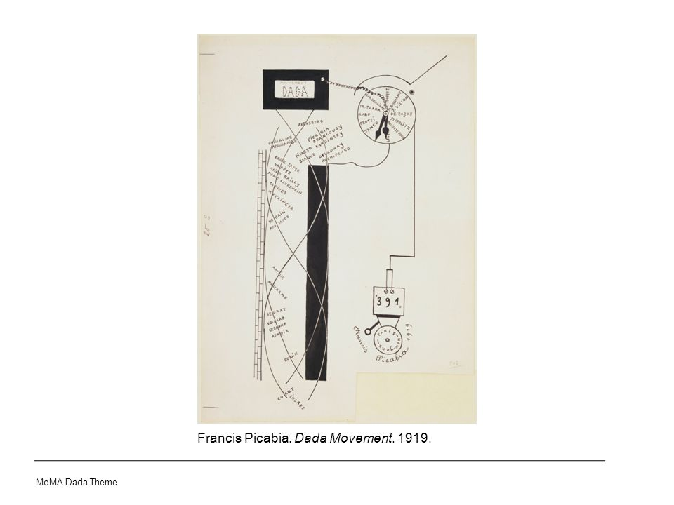 Francis Picabia. Dada Movement. 1919. MoMA Dada Theme