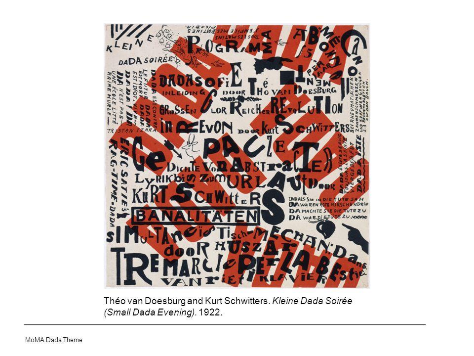 Théo van Doesburg and Kurt Schwitters. Kleine Dada Soirée (Small Dada Evening). 1922.