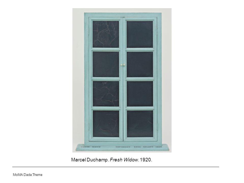 Marcel Duchamp. Fresh Widow. 1920. MoMA Dada Theme