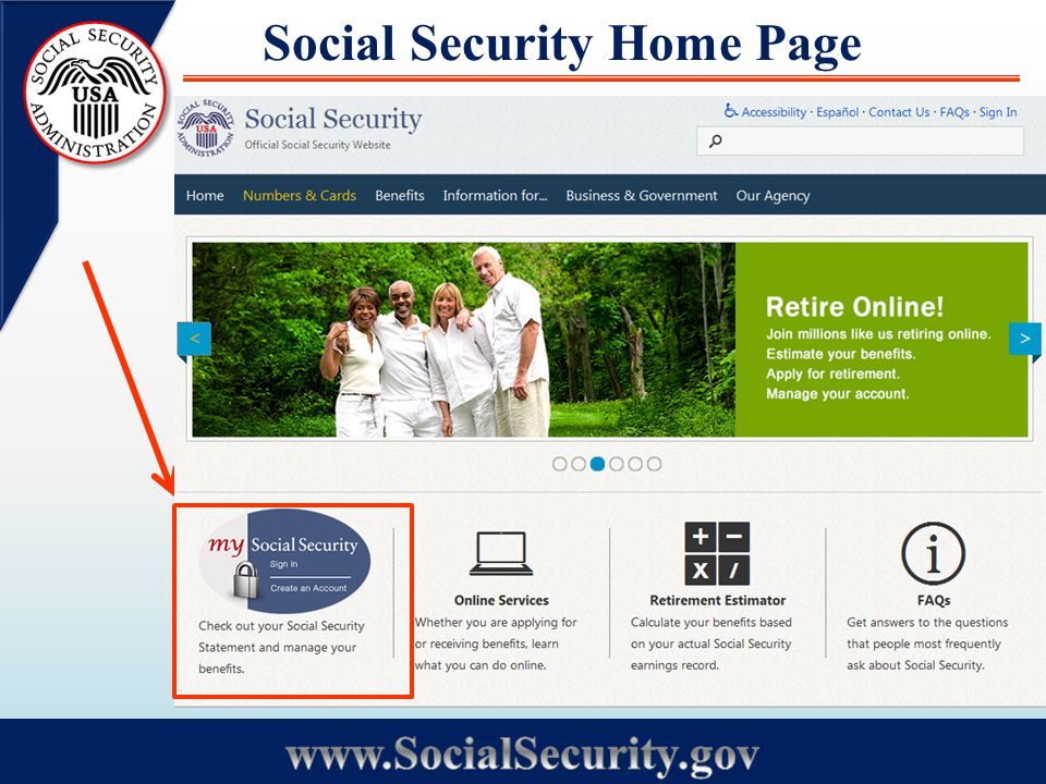 Social Security Home Page