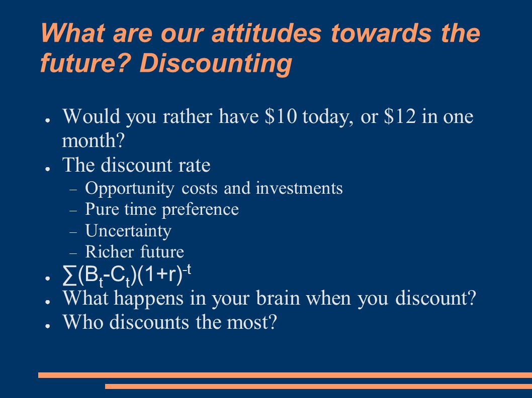 What are our attitudes towards the future.