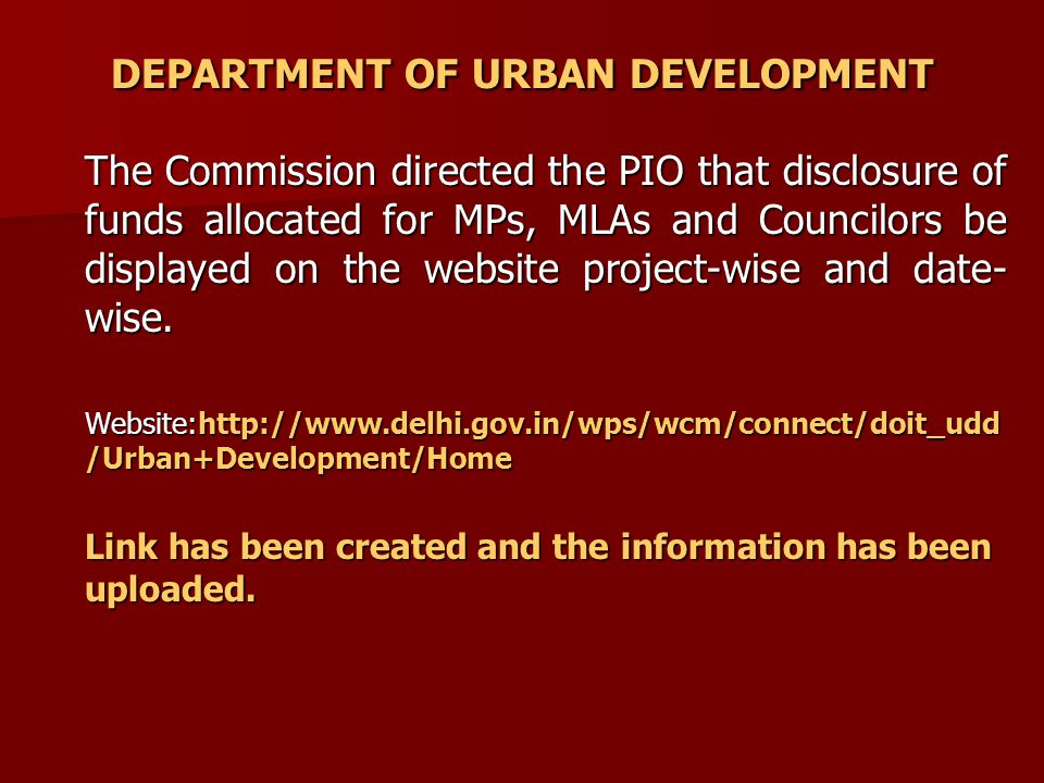Website of Dept. of UD