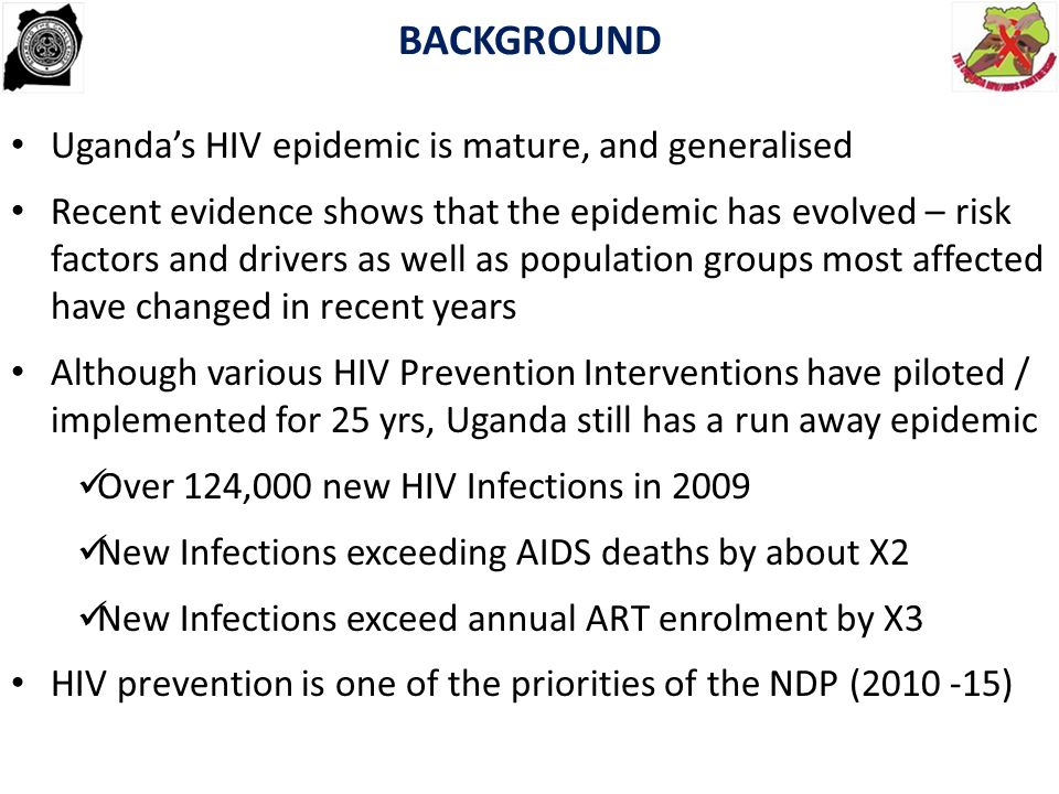 TRENDS IN HIV PREVALENCE About 731,000 potential new infection over next five years if status quo is maintained.