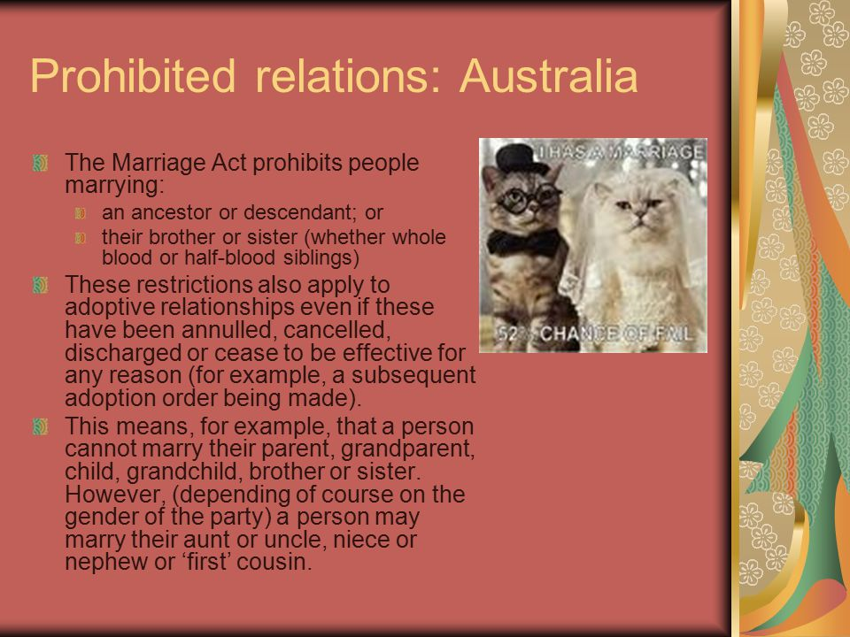 Maintenance In Australia, it is the responsibility of both parties to the marriage In Iran, the husband has the responsibility to maintain the wife and family.