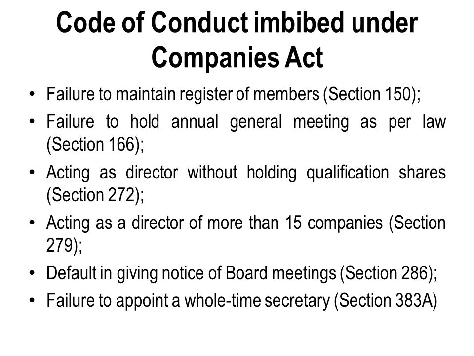 Appointment as Cost Auditor u/s 233B Guilty if accepts appointment u/s 233B while he is: 1.Auditor of Company u/s 224; 2.Officer or employee of company; 3.Partner or employee of (2); 4.Partner or employee of (1); 5.Indebted/ provided guarantee/ security to company for > Rs.