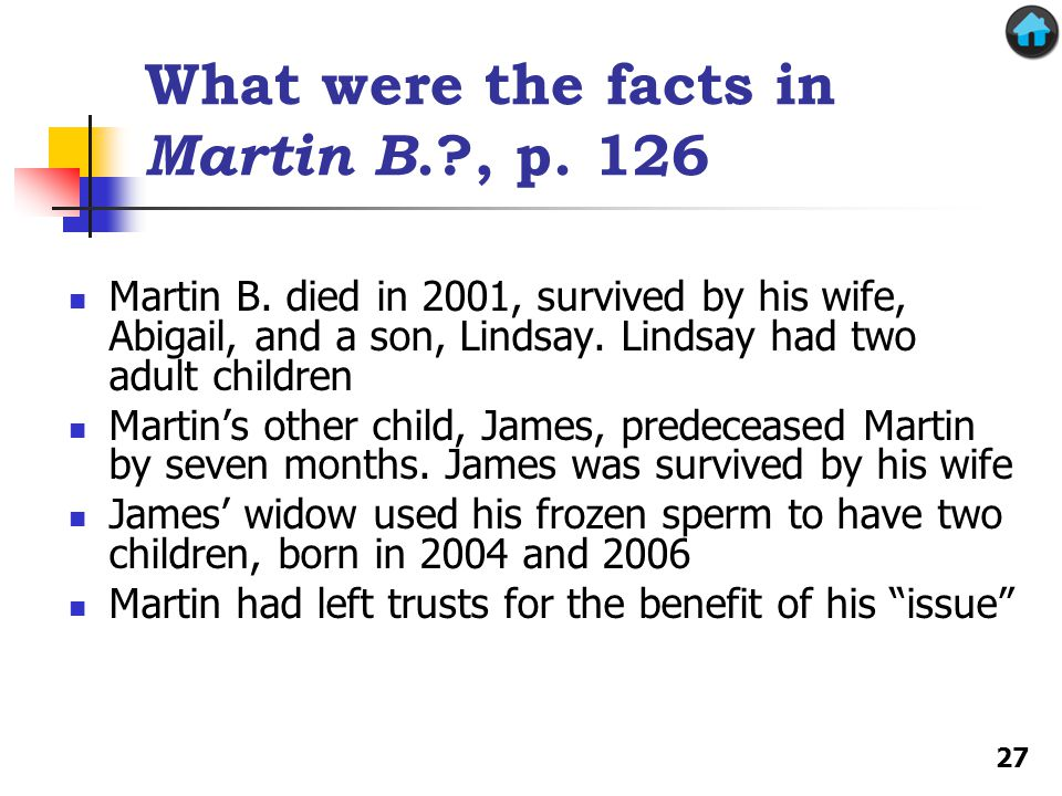 What were the facts in Martin B. , p. 126 Martin B.