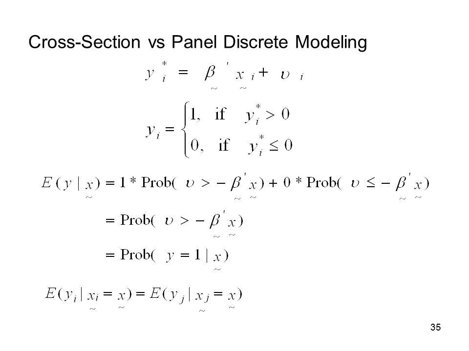 35 Cross-Section vs Panel Discrete Modeling