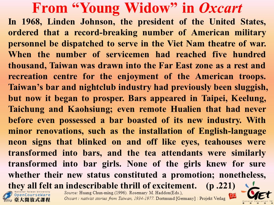 From Young Widow in Oxcart In 1968, Linden Johnson, the president of the United States, ordered that a record-breaking number of American military personnel be dispatched to serve in the Viet Nam theatre of war.
