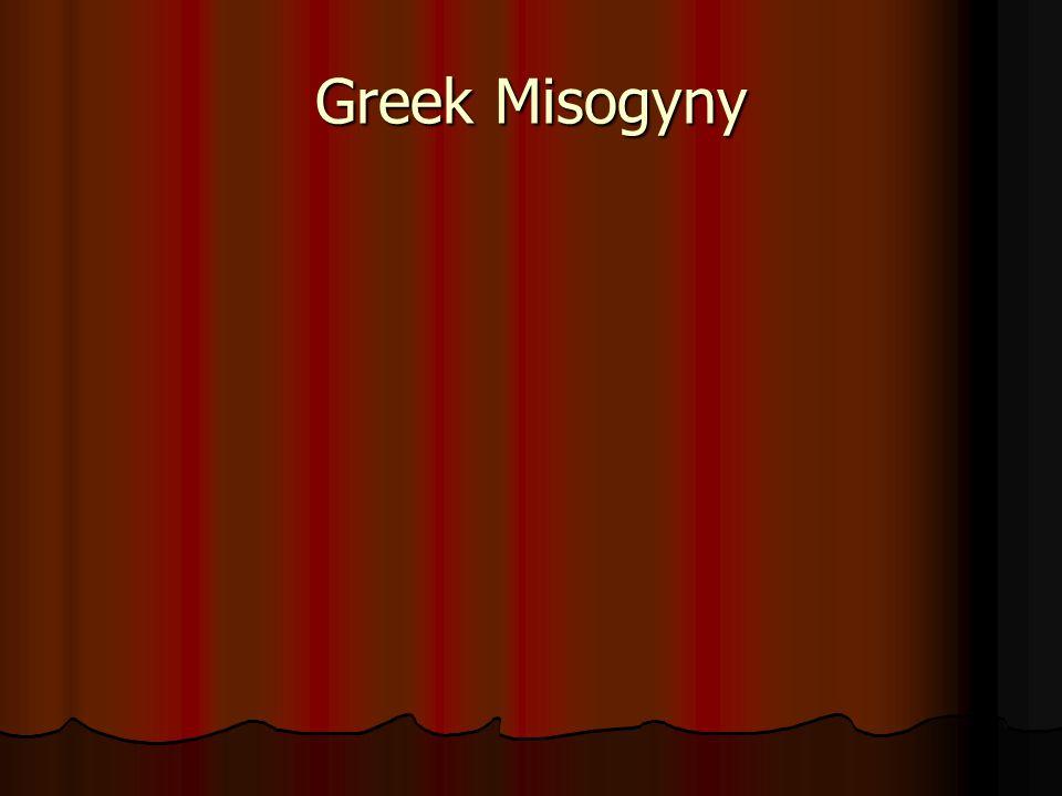 Greek Misogyny