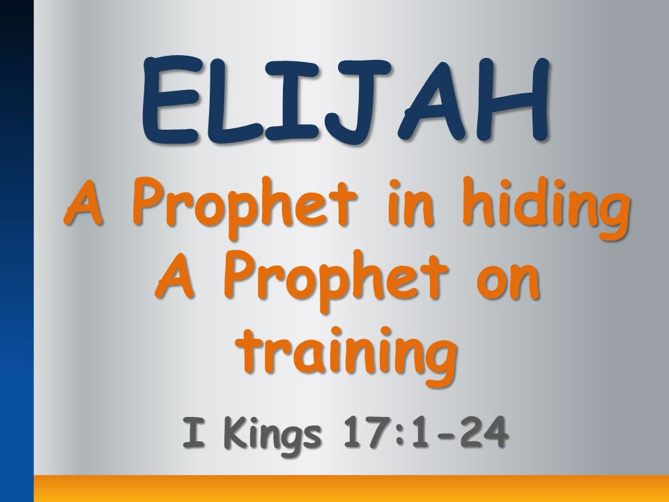 At a time when Baal-worship was threatening Israel's allegiance to the true and living God, Elijah, a prophet from Tishbe in Gilead, was sent to declare to King Ahab God's punishment upon Israel (cf.
