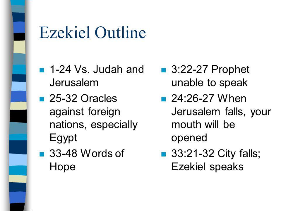Ezekiel Outline n 1-24 Vs.