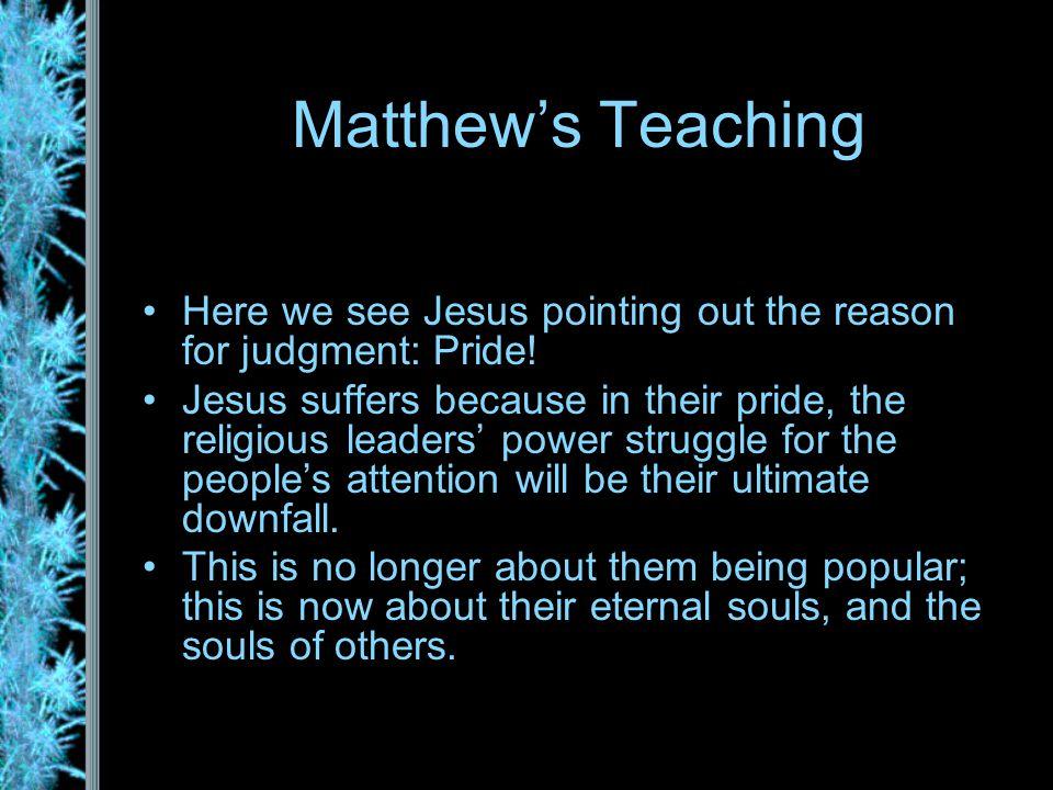 Matthew's Eight Woes Woe #1: v.
