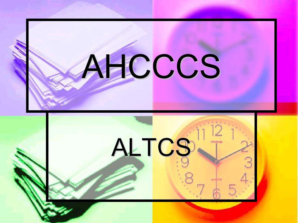 ALTCS AHCCCS