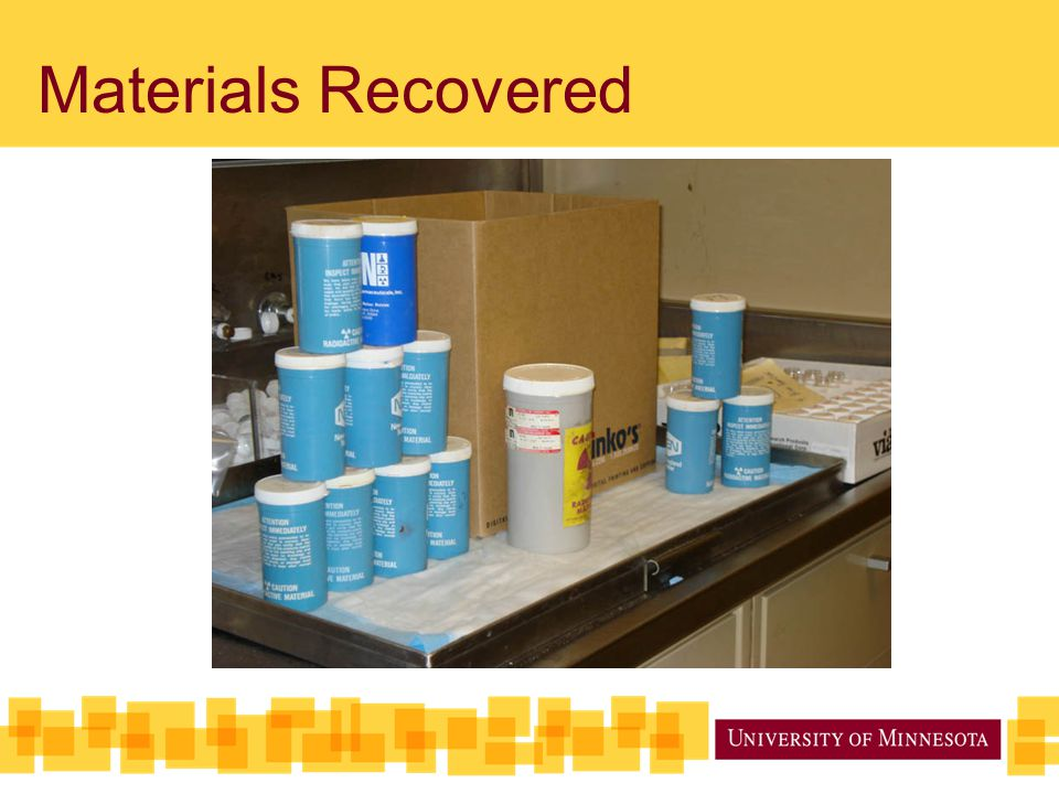 Materials Recovered