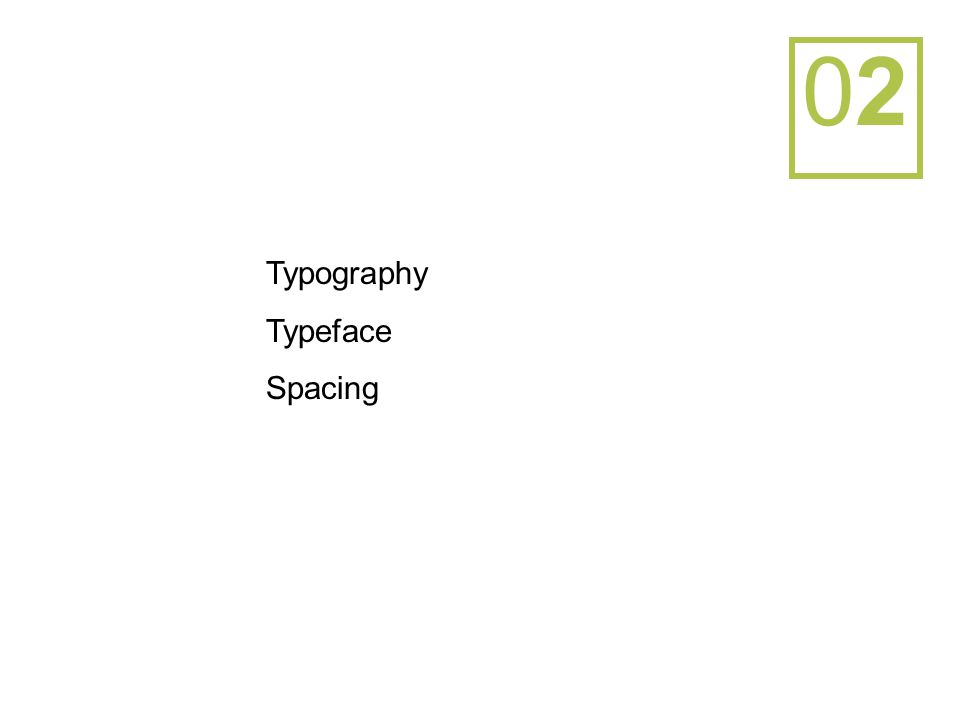 0202 Typography Typeface Spacing