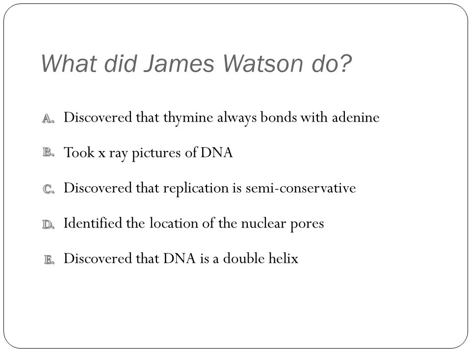 What did James Watson do.