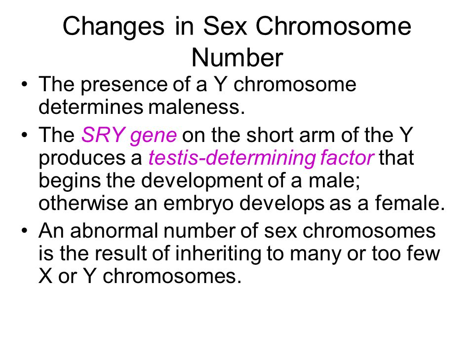 Turner Syndrome Individuals with Turner syndrome are females that have only one X chromosome; therefore they are XO.