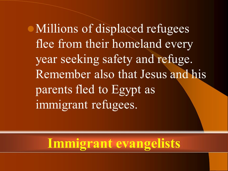 Millions of displaced refugees flee from their homeland every year seeking safety and refuge.