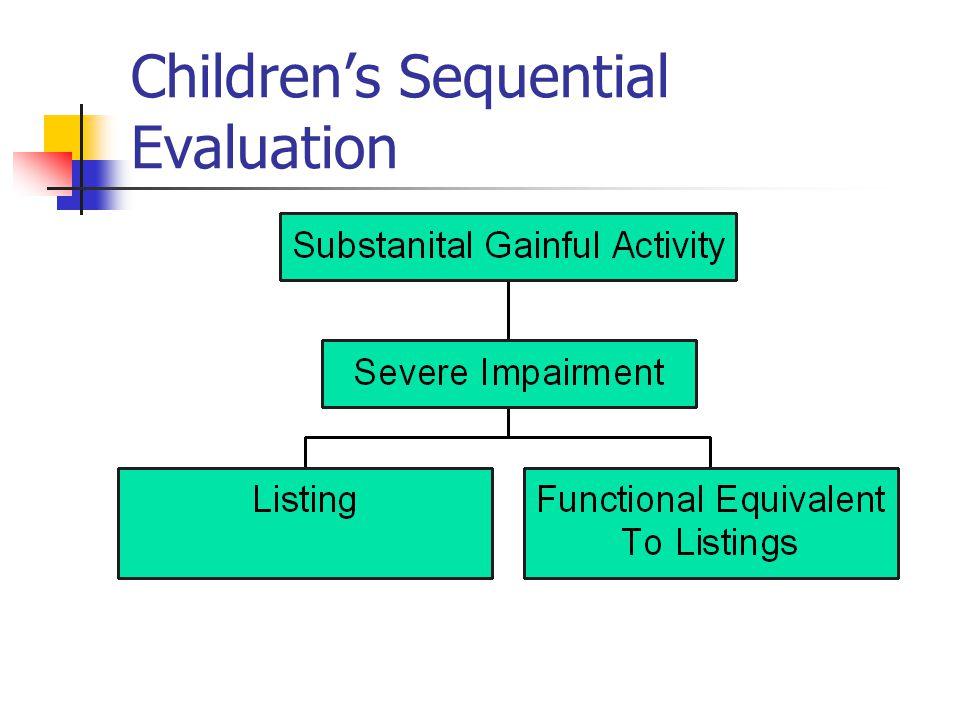 Children's Sequential Evaluation