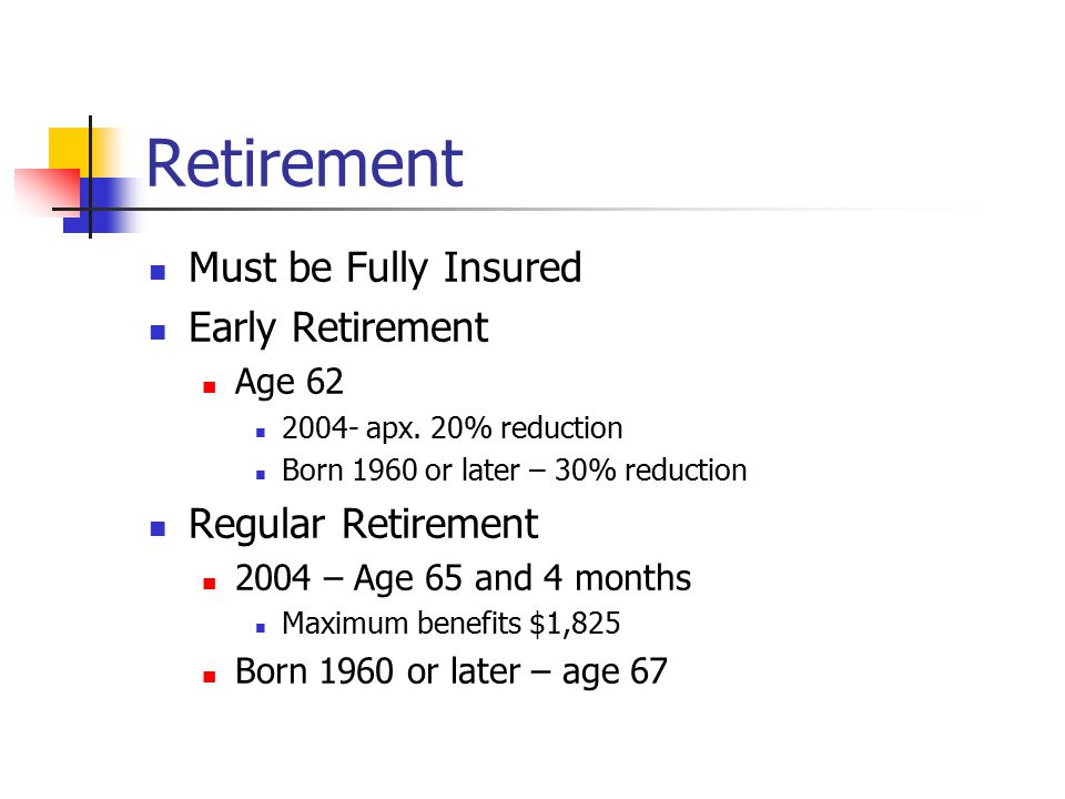 Dependent Benefits Children Insured entitled to old age or disability benefits or deceased Natural, adopted child, stepchild or grandchild/step grandchild (parents must be deceased or disabled at time insured became eligible for benefits or died) Under 18 or In secondary school under 19 or Disabled before age 22