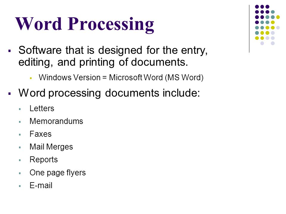 Creating Documents Know the parts of your MS Word screen  Title Bar  Menu Bar  Toolbars and Buttons  Ruler  Text Area  Scroll Bars  Status Bar  New Task Pane