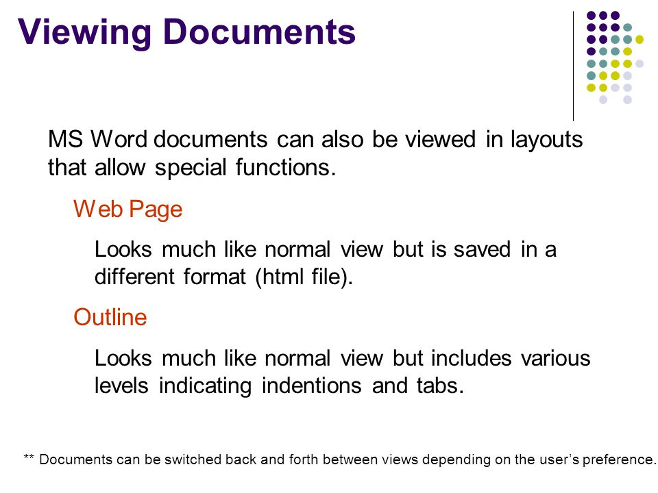 Saving Documents  Always save in a familiar location.