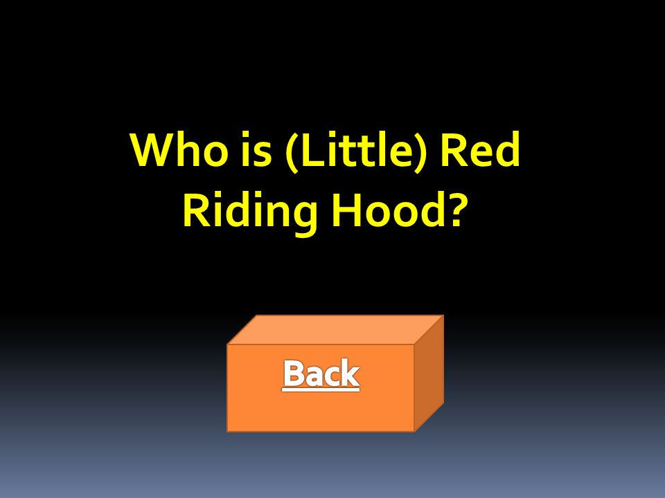 Who is (Little) Red Riding Hood