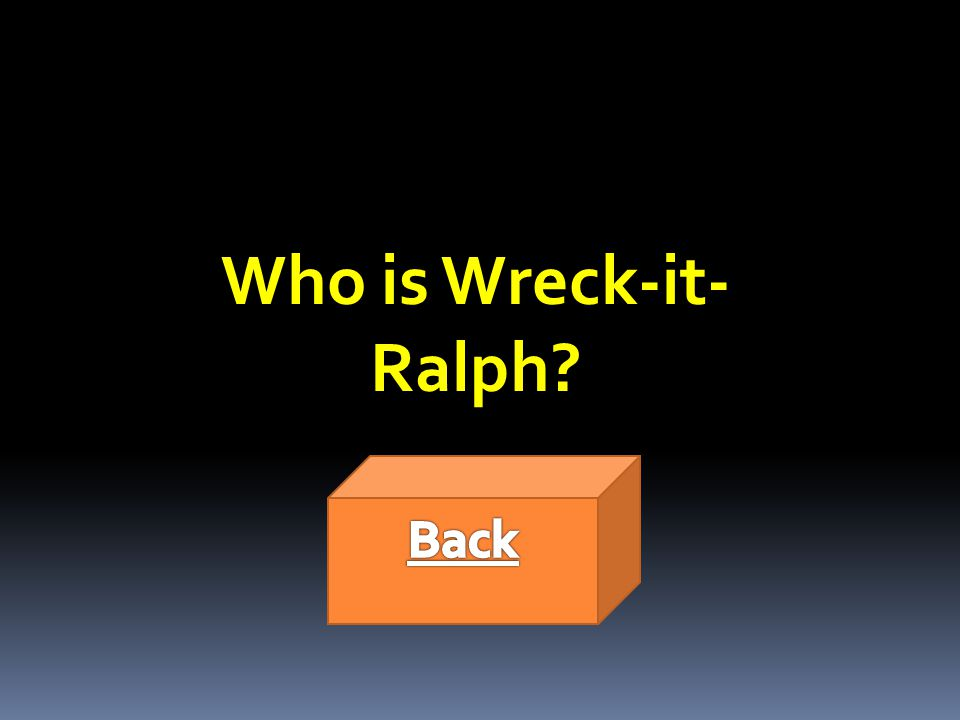 Who is Wreck-it- Ralph