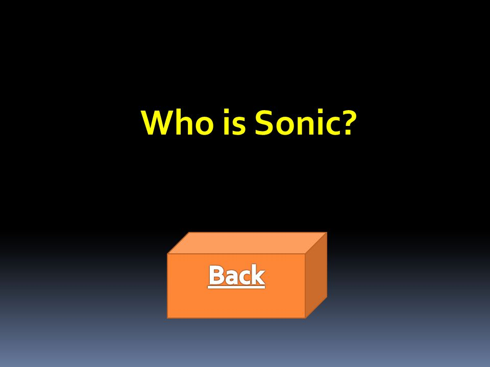 Who is Sonic