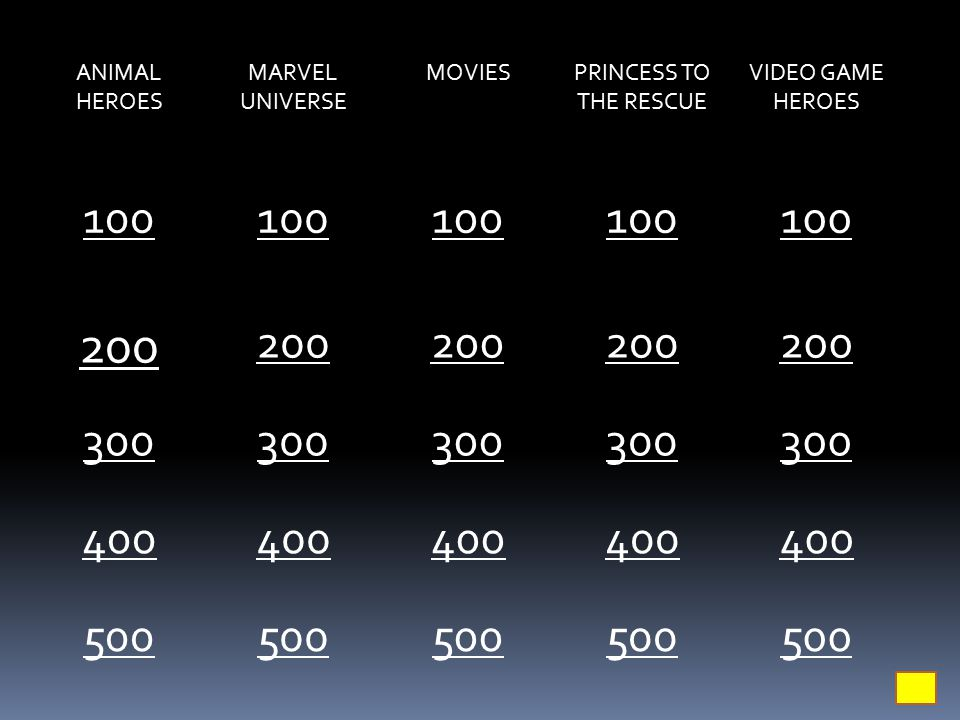ANIMAL HEROES MARVEL UNIVERSE MOVIESPRINCESS TO THE RESCUE VIDEO GAME HEROES 100 200 300 400 500