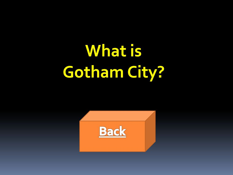 What is Gotham City