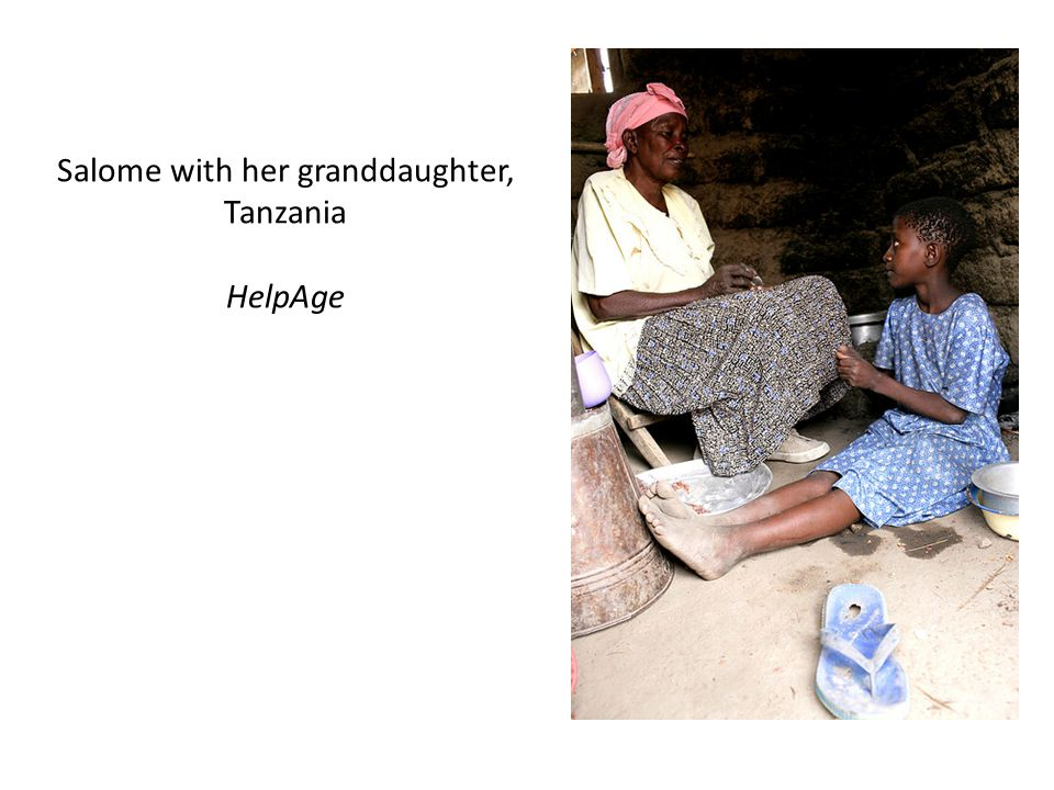Salome with her granddaughter, Tanzania HelpAge