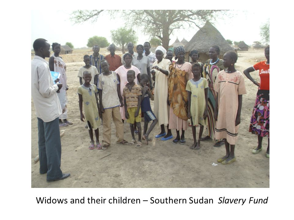 Widows and their children – Southern Sudan Slavery Fund