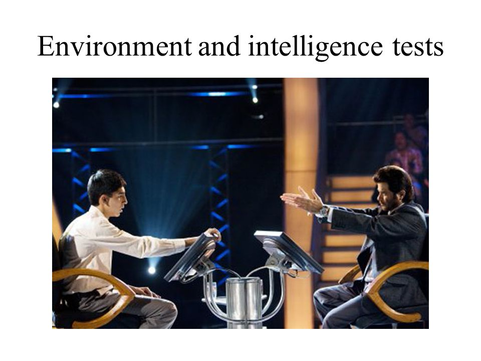 Environment and intelligence tests