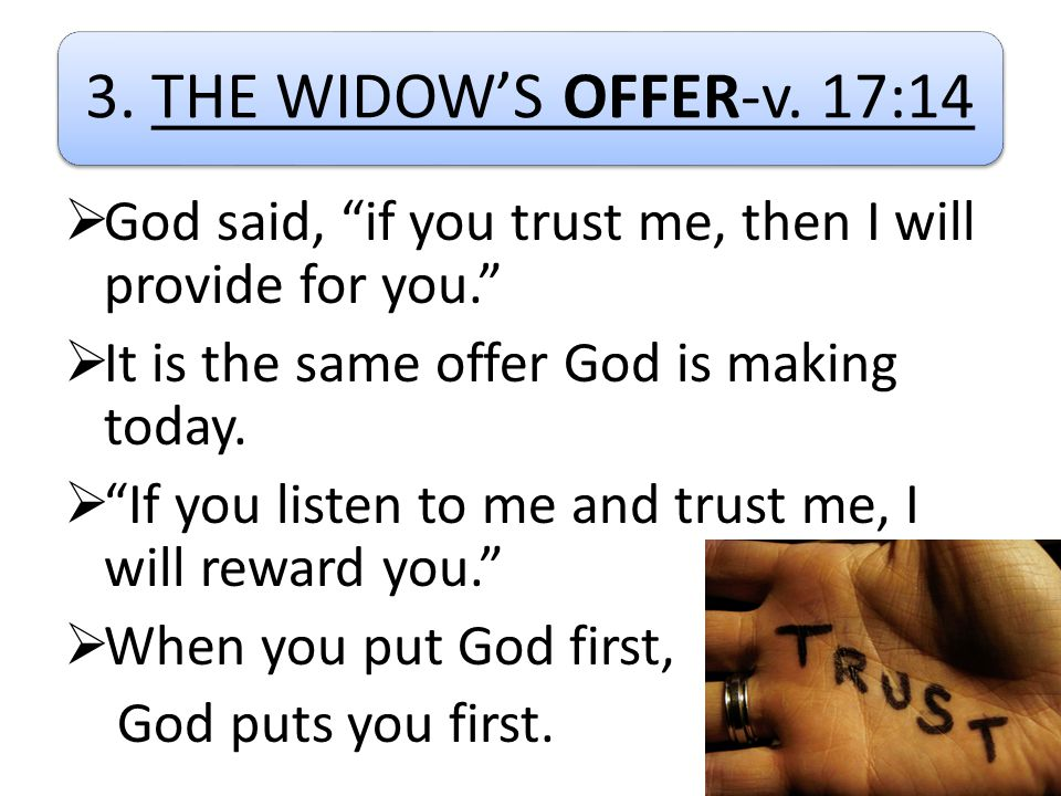 3. THE WIDOW'S OFFER-v.