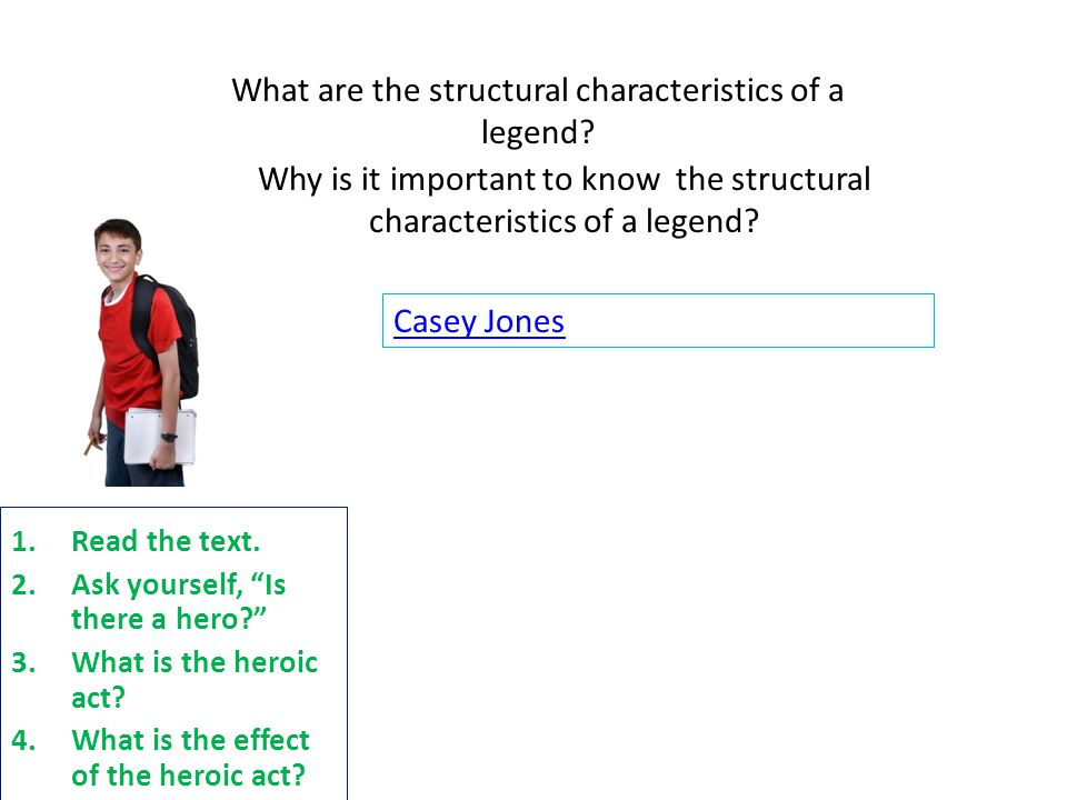 What are the structural characteristics of a legend.
