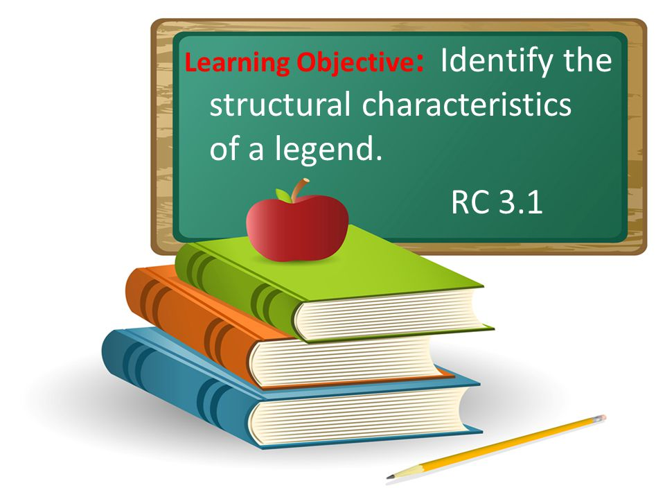 Learning Objective : Identify the structural characteristics of a legend. RC 3.1