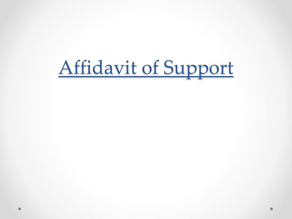 Affidavit of Support