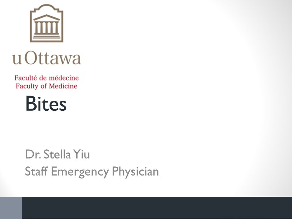 Bites Dr. Stella Yiu Staff Emergency Physician