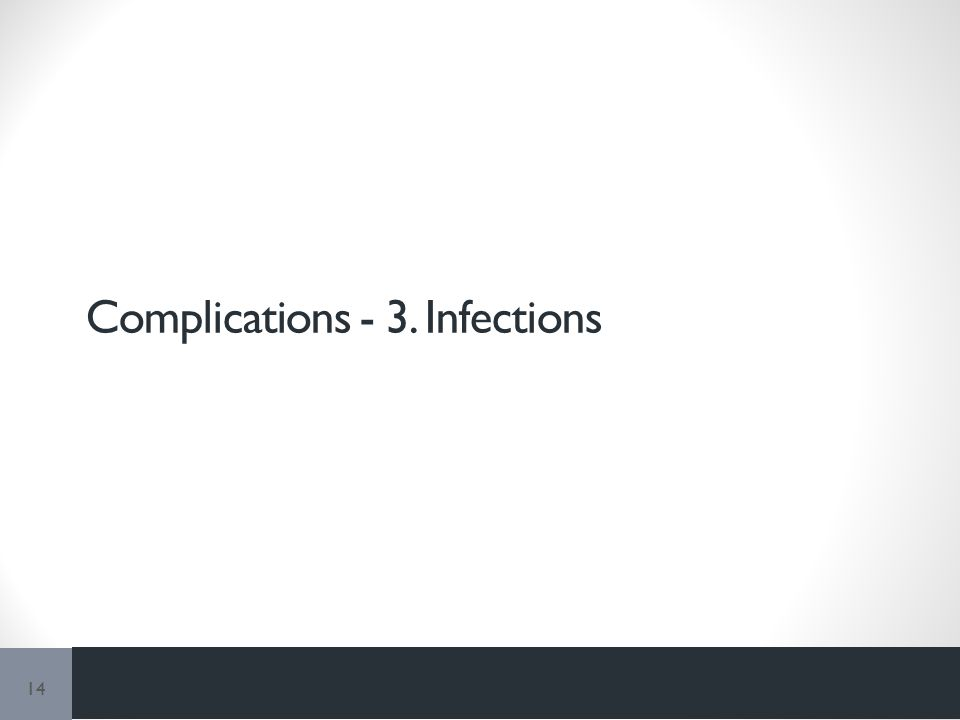 Complications - 3. Infections 14