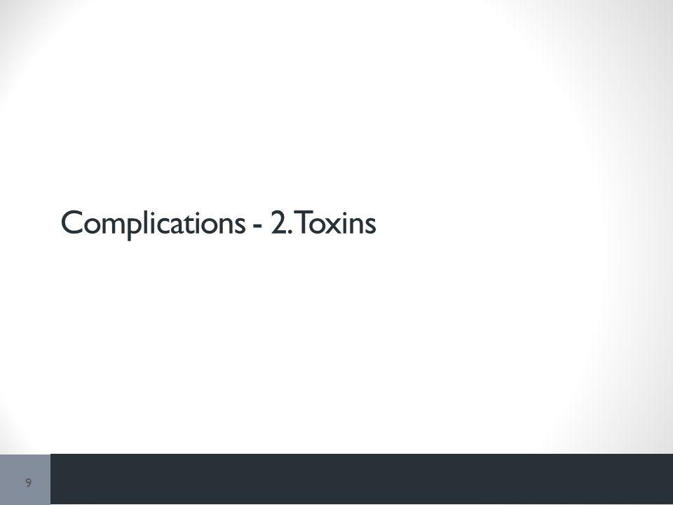 Complications - 2. Toxins 9