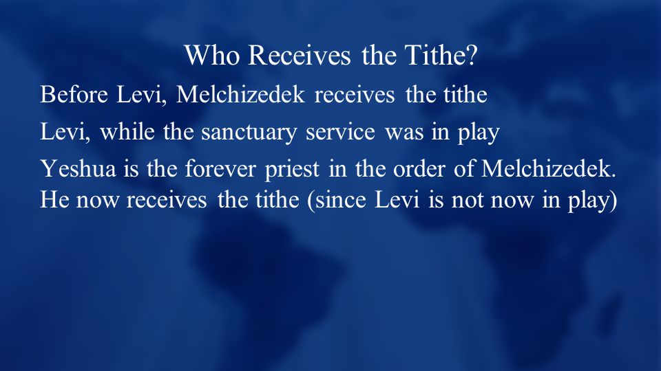 Who Receives the Tithe.
