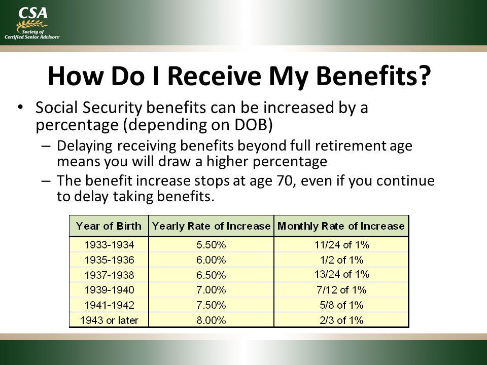 How Do I Receive My Benefits.