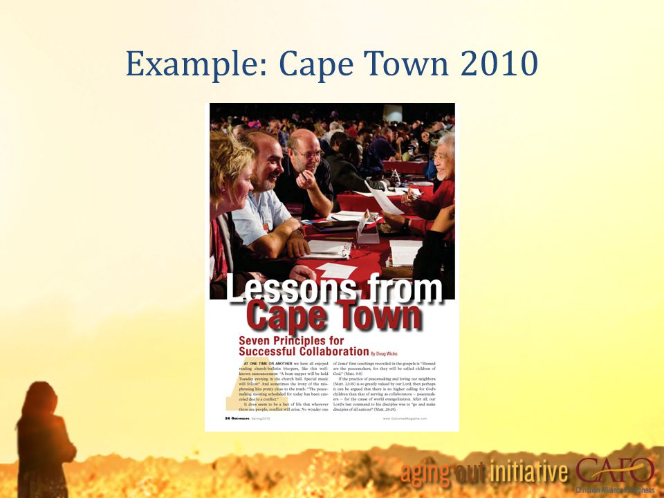 Example: Cape Town 2010